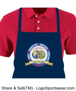 Short Tavern Apron With Pouch Design Zoom