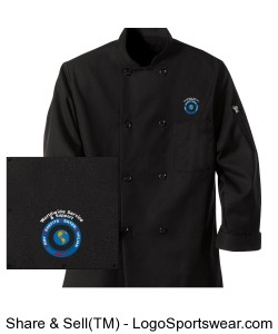 Black Traditional Chef Coat Design Zoom